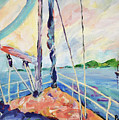 Sailing - Wind In Your Face by Peggy Johnson