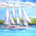 Sailing Yacht British Virgin Islands by Carlin Blahnik CarlinArtWatercolor