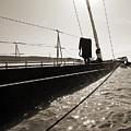 Sailing Yacht Hanuman J Boat Bow by Dustin K Ryan