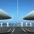 Sailors Aboard The Aircraft Carrier Uss Nimitz  by R Muirhead Art