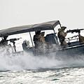 Sailors Patrol Kuwait Naval Bases by Stocktrek Images