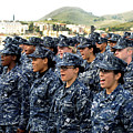 Sailors Yell Before An All-hands Call by Stocktrek Images