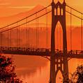 Saint John's Bridge At Sunrise by Landon Spady
