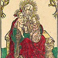 Saint Anne, The Madonna And Child, And A Franciscan Monk by German 15th Century