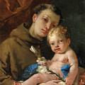 Saint Anthony Of Padua And The Infant Christ by Francesco Zugno