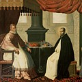 Saint Bruno And Pope Urban II by Francisco de Zurbaran