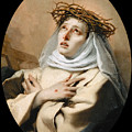 Saint Catherine Of Sienna by Giovanni Battista Tiepolo