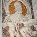 Saint Damasus Tondo In Saint Peter's Basilica by Fabrizio Ruggeri