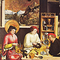 Saint Eligius In His Workshop by Niklaus Manuel Deutsch