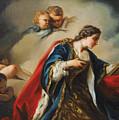 Saint Elisabeth Of Hungary Praying by Studio of Pierre Subleyras
