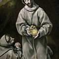 Saint Francis And Brother Leo Meditating On Death by El Greco