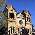 Saint Francis Cathedral Santa Fe by Kurt Van Wagner