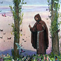 Saint Francis Of Assisi Preaching To The Birds by German School