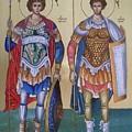 Saint George And Saint Dimitrios by Konstantinos Baklatzis