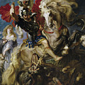 Saint George Battles The Dragon by Peter Paul Rubens
