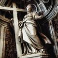 Saint Helena Statue Inside Saint Peter S Basilica Rome Italy by Daliana Pacuraru