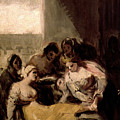 Saint Isabel Of Portugal Healing The Wounds Of A Sick Woman by Francisco Goya