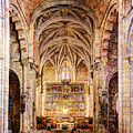 Saint Isidore - Romanesque Temple Altar And Vault - Vintage Version by Weston Westmoreland