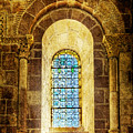 Saint Isidore - Romanesque Window With Stained Glass - Vintage Version by Weston Westmoreland