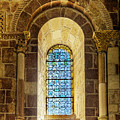 Saint Isidore - Romanesque Window With Stained Glass by Weston Westmoreland