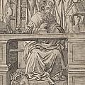 Saint Jerome In His Study by Giovanni Antonio Da Brescia