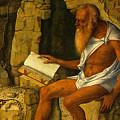 Saint Jerome Reading 1480-1490 Giovanni Bellini by Eloisa Mannion