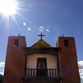 Saint Jeromes Chapel Taos Pueblo by Kurt Van Wagner