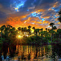 Saint Lucie River Sunset by Mark Andrew Thomas