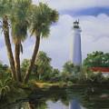 Saint Marks Lighthouse Florida by Jim Horton