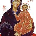 Saint Mary With Baby Jesus by Munir Alawi
