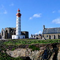 Saint-mathieu Lighthouse And The Ruins Of The Abbey Of Saintlmat by Anthony Dezenzio