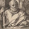 Saint Matthias by Hendrik Goltzius