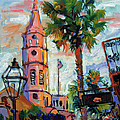 Saint Michaels Church Charleston Sc Oil Painting by Ginette Callaway