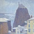 Saint Michel D Aiguilhe Haute Loire Under Snow 1890 by DuboisPillet Albert