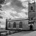 Saint Patricks Church On The Hill Of Tara Bw by Teresa Wilson