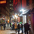 Saint Patrick's Day On Marshall Street Boston Ma by Toby McGuire