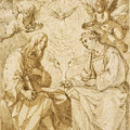 Saint Paul And Saint Stephen Crowned By Angels by Giovanni Baglione