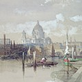 Saint Pauls From The River by David Roberts