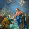 Saint Peter Invited To Walk On The Water by Francois Boucher