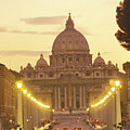 Saint Peters Cathedral In The Vatican by Richard Nowitz