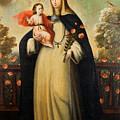 Saint Rose Of Lima With Child Jesus by Mountain Dreams