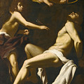 Saint Sebastian Succoured By The Angels by Giovanni Baglione