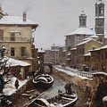 Saint Sophia Canal Covered In Snow by Angelo Inganni