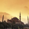 Saint Sophia Hagia Sophia At Sunset by Richard Nowitz