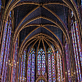 Sainte Chapelle Stained Glass Paris by Joan Carroll