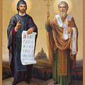 Saints Cyril And Methodius - Missionaries To The Slavs by Svitozar Nenyuk