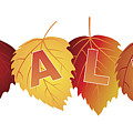 Sale Text On Fall Colors Birch Leaves by Jit Lim