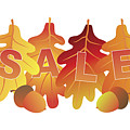 Sale Text On Fall Colors Oak Leaves by Jit Lim