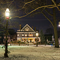 Salem Commons Winter Snow At Christmas Salem Ma by Toby McGuire