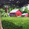 Salem County Farm, Framed by Barry Levy